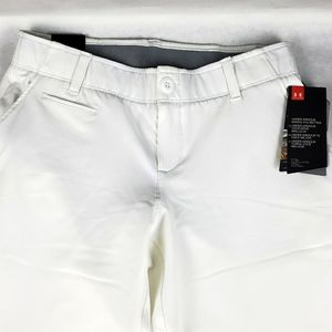 UA Fitted Women's white links golf pants